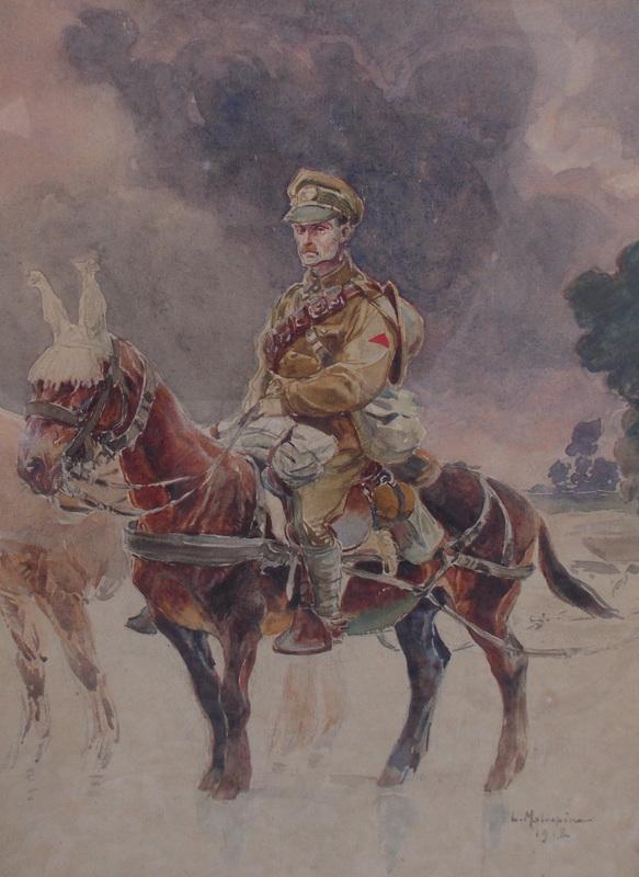 Louis-Ferdinand MALESPINA - Dessin-Aquarelle - Le cavalier
