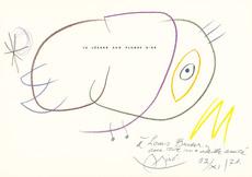 Joan MIRO - Dibujo Acuarela - Le lézard aux plumes d'or