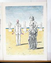 乔治•德•基里科 - 版画 - Il Filosofo e la Musa 1971