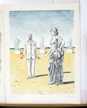 Giorgio DE CHIRICO - Grabado - Il Filosofo e la Musa 1971