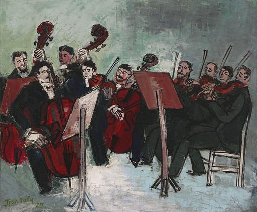 Jean DUFY - Pintura - L'orchestre