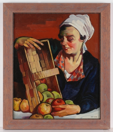 "Josef LACINA - Painting - ""Artist's Wife"", 1959, Oil Painting"