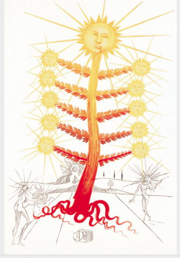 Salvador DALI - Stampa Multiplo - Sun