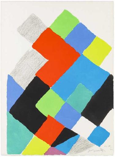 "Sonia DELAUNAY-TERK - Print-Multiple - Untitled (from ""Arthur Rimbaud, Les Illuminations"")"