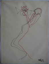 Raymond MORETTI - Drawing-Watercolor - DESSIN 57 PASTEL FEUTRE SIGNÉ HANDSIGNED PASTEL FELT DRAWING
