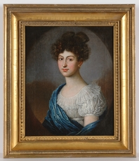 """Johann TISCHBEIN (Attrib.) - Painting - """"Portrait of a Young Lady"""", Oil on Canvas"""
