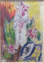 GEN PAUL - Zeichnung Aquarell - Clown au tambour