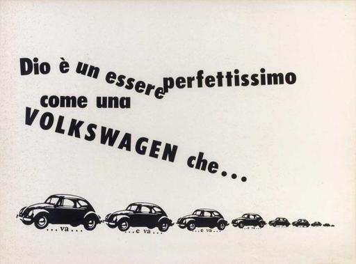 Emilio ISGRO - Grabado - Dio è un essere perfettissimo come una Volkswagen che....