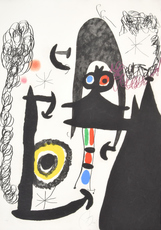 "Joan MIRO - Grabado - Joan Miro ""Escalade…"" Etching/Aquatint, Signed Edition"