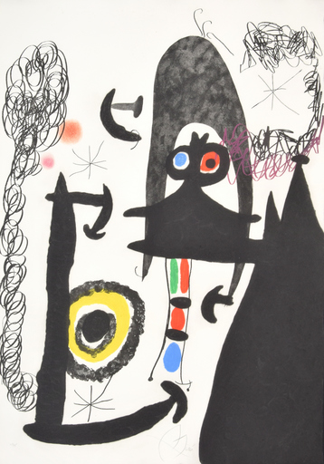 "Joan MIRO - Print-Multiple - Joan Miro ""Escalade…"" Etching/Aquatint, Signed Edition"