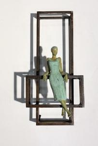 Joan ARTIGAS PLANAS - Sculpture-Volume - Small floating cube