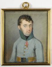 """Johann Georg SCHEDLER - Miniature - """"Major Karl Schneider von Arno"""" 1808"""