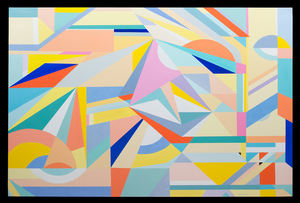 Lorena ULPIANI - Painting - Vienna - abstract oil geometric