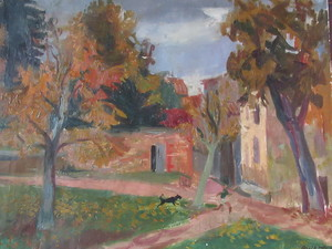 Jean AUJAME - Pintura - Le loup garou