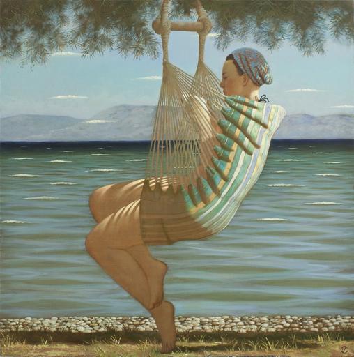 Stanislav ILIN - Pittura - Reading Darrell. Corfu