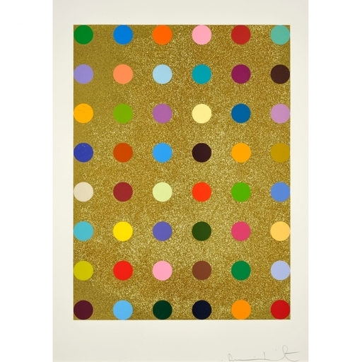 Damien HIRST - Print-Multiple - Aurous Iodide (with gold glitter)