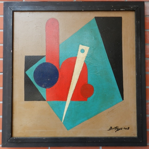 Sándor BORTNYIK - Pittura - Geometric composition