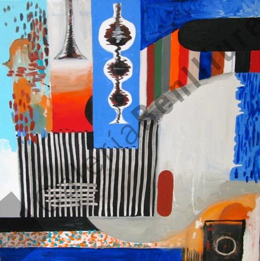 Abraham LACALLE - Peinture - Paisaje de leches  5