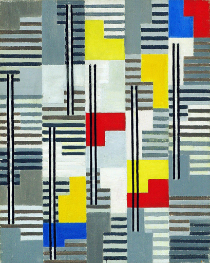 Adolf Richard FLEISCHMANN - Pittura - COMPOSITION - OPUS 23 - 1954