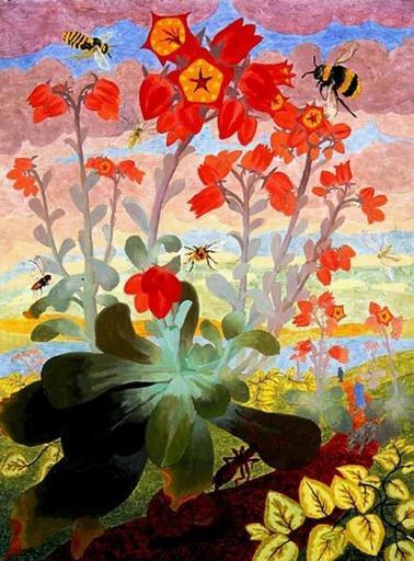 Elvic STEELE - Painting - Succulent Flowering