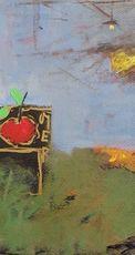 Giorgio CHIESI - Pintura - Natura morta con paesaggio
