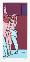 Valerio ADAMI - Print-Multiple - Figure de dos