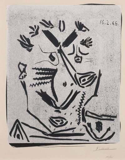 Pablo PICASSO - Print-Multiple - Portrait d'homme (Notre Dame de Vie)