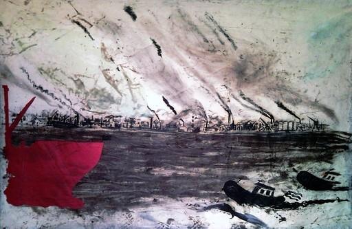 Noel MORERA CRUZ - Pittura - Poca Ayuda. Serie Puerto II