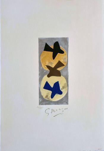 Georges BRAQUE - Druckgrafik-Multiple - Soleil et Lune II