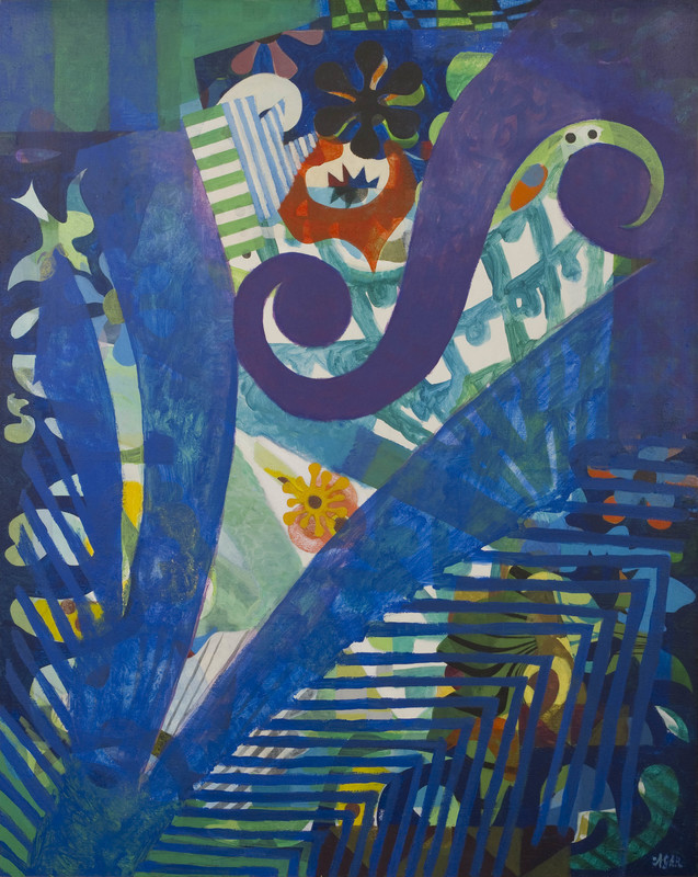 Eileen AGAR - Painting - Tropic of Music