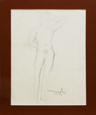 Salvador DALI - Drawing-Watercolor - Nu d'homme