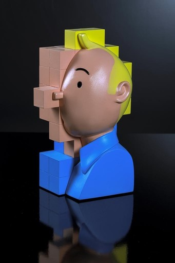 Bertrand GREGOIRE - Skulptur Volumen - Tintin color