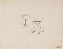 Pino PASCALI - Drawing-Watercolor - Architetti