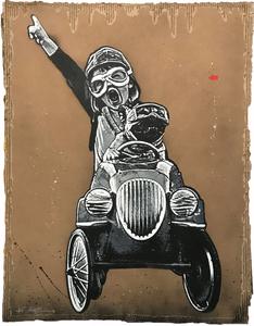 JEF AÉROSOL - Peinture - Pedal car