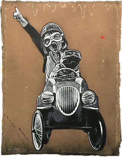 JEF AÉROSOL - Pittura - Pedal car