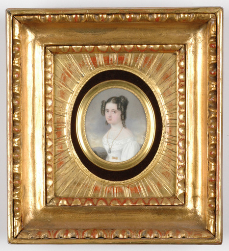"""Emanuel Thomas PETER - Miniature - """"Portrait of a Young Lady"""", important miniature on ivory"""