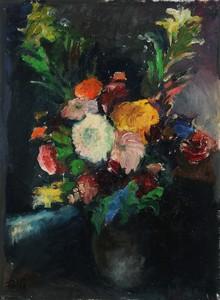 Franz WILCEK - Painting - Blumenstrauß im Krug