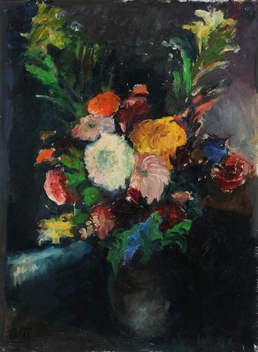 Franz WILCEK - 绘画 - Blumenstrauß im Krug