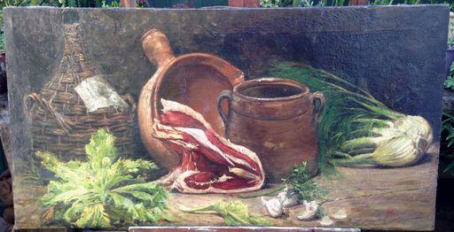 Ángel LIZCANO Y MONEDERO - Painting - Bodegón