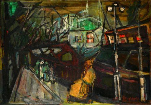 Zvi MAIROVITCH - Pintura - Street and Figuers