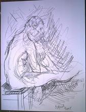 Bernard MOREL - Disegno Acquarello - DESSIN HOMME