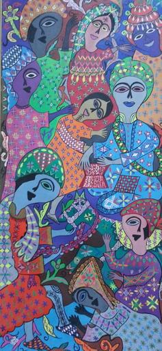Fatima HASSAN EL FAROUJ - Pintura - La Fête