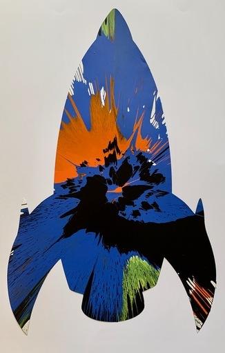 达米恩•赫斯特 - 绘画 - ROCKET spin painting