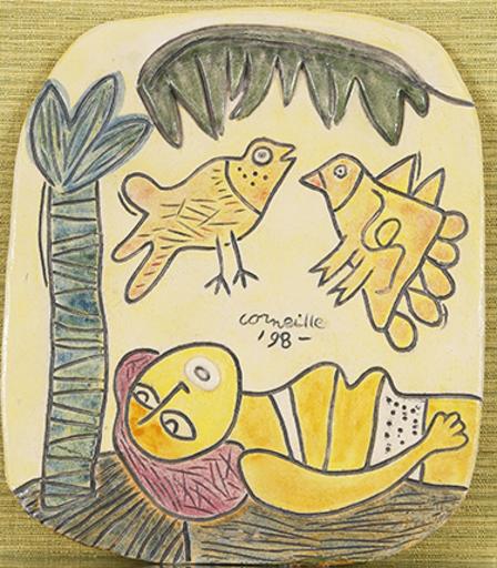 CORNEILLE - Ceramic - plaque murale 45