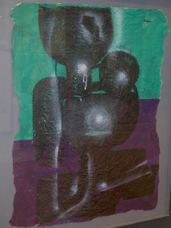 Ladislas KIJNO - Peinture - composition abstraite