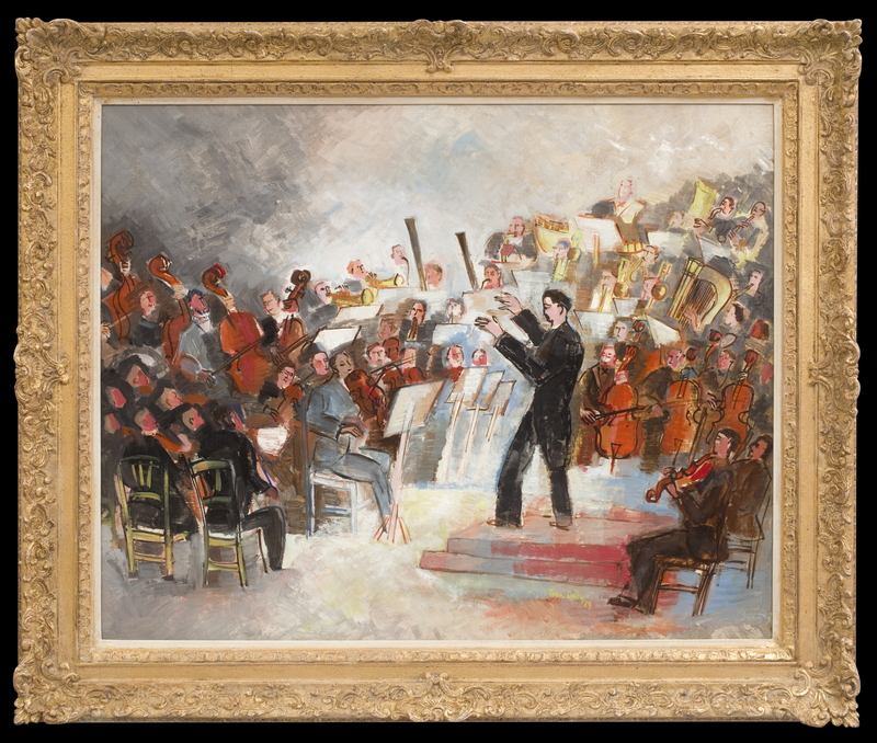 Jean DUFY - Painting - Orchestre Symphonique