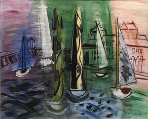 Raoul DUFY - Painting - Régates à Trouville