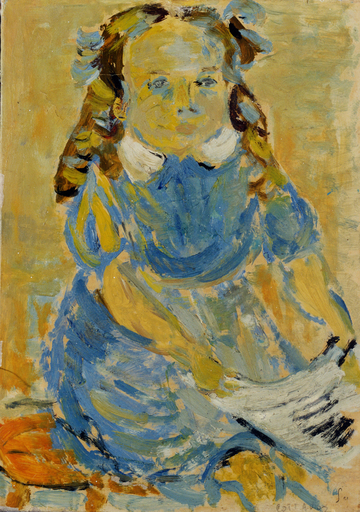 André COTTAVOZ - Painting - Portrait d'enfant, 1950