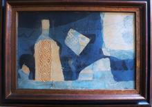 """Antoni CLAVÉ - Peinture - """"La bouteille"""" (The bottle)"""