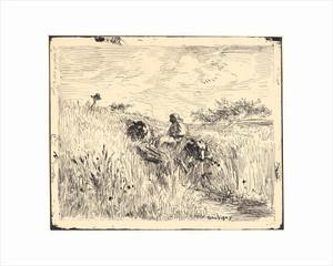 daubigny_charles franois daubigny - sentier dans les blés